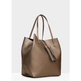 マンゴ MANGO Shopper bag (silver)