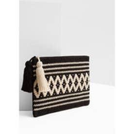 マンゴ MANGO Cotton cosmetic bag (black)