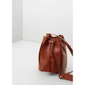 マンゴ MANGO Leather appliqu? bag (medium brown)