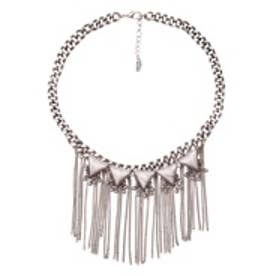 マンゴ MANGO Mixed waterfall necklace (lt pastel grey)