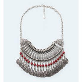 マンゴ MANGO Pendant waterfall necklace (lt pastel grey)
