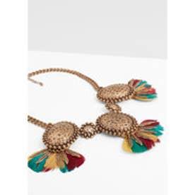 マンゴ MANGO Mixed bead necklace (gold)