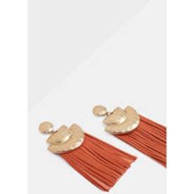 マンゴ MANGO Fringe earrings (gold)【両耳】【ピアス】