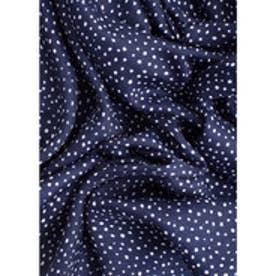 マンゴ MANGO Polka-dot scarf (navy)