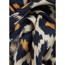 マンゴ MANGO Printed scarf (navy)