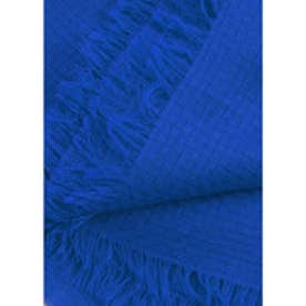 マンゴ MANGO Textured scarf (bright blue)