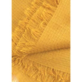 マンゴ MANGO Textured scarf (medium yellow)