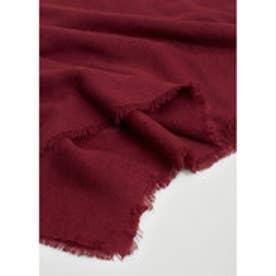 マンゴ MANGO Frayed edge scarf (dark red)
