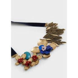 マンゴ MANGO Flower necklace (gold)