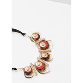 マンゴ MANGO Mixed bead necklace (red)
