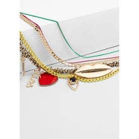 マンゴ MANGO Mixed chain necklace (silver)