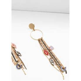 マンゴ MANGO Metal pendant earrings (gold)【ピアス】【両耳】