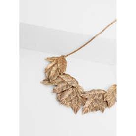 マンゴ MANGO Metal embellishment necklace (gold)