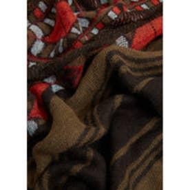 マンゴ MANGO Printed scarf (beige - khaki)