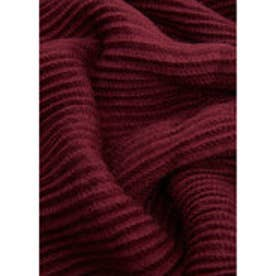 マンゴ MANGO Striped textured scarf (dark red)