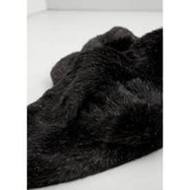 マンゴ MANGO Faux fur stole (black)