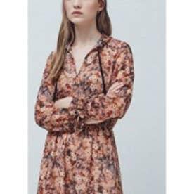 マンゴ MANGO Floral print dress (lt-pastel pink)