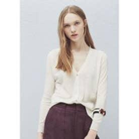 マンゴ MANGO Cotton-blend cardigan (light beige)