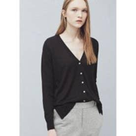 マンゴ MANGO Cotton-blend cardigan (black)