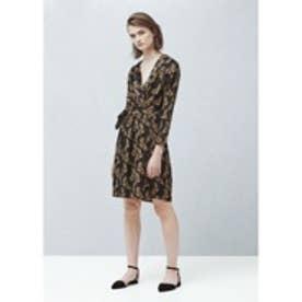 マンゴ MANGO Flowy print dress (medium brown)