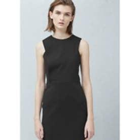 マンゴ MANGO Fitted dress (black)