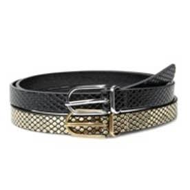 マンゴ MANGO Skinny belt pack (black)