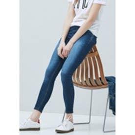 マンゴ MANGO Kim skinny push-up jeans (open blue)