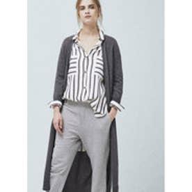 マンゴ MANGO Long cotton cardigan (medium grey)