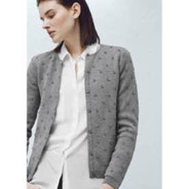 マンゴ MANGO Cotton appliqu?s cardigan (medium grey)
