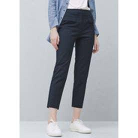 マンゴ MANGO Straight cotton trousers (navy)