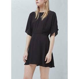 マンゴ MANGO Flared skirt dress (black)