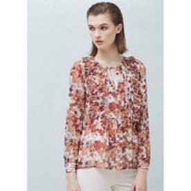 マンゴ MANGO Floral print blouse (lt-pastel pink)