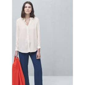 マンゴ MANGO Flowy shirt (natural white)
