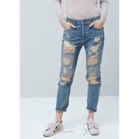 マンゴ MANGO Boyfriend Angie jeans (open blue)
