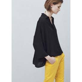 マンゴ MANGO Flowy shirt (black)