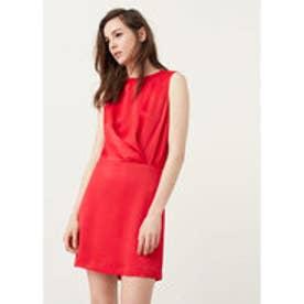 マンゴ MANGO Ruched detail dress (medium pink)