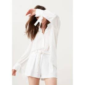 マンゴ MANGO Lightweight blouse (white)