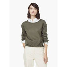 マンゴ MANGO Fine-knit cotton sweater (beige - khaki)