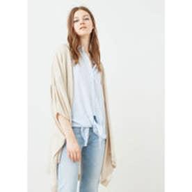マンゴ MANGO Knit cape (lt pastel grey)
