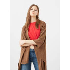 マンゴ MANGO Knit cape (medium brown)