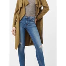 マンゴ MANGO Crop skinny Isa jeans (open blue)