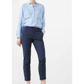 マンゴ MANGO Cotton suit trousers (medium blue)