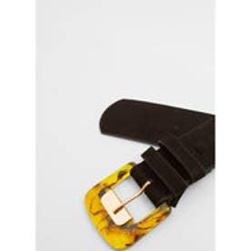 マンゴ MANGO Wide belt (black)