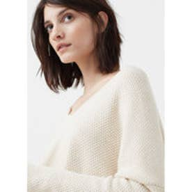 マンゴ MANGO Textured cotton-blend sweater (light beige)