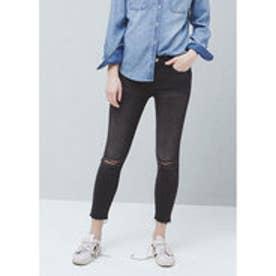 マンゴ MANGO Crop skinny Isa jeans (open grey)