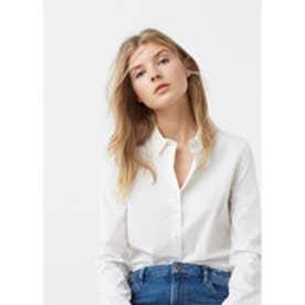 マンゴ MANGO Poplin shirt (white)