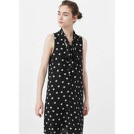 マンゴ MANGO Polka-dot dress (black)
