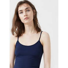 マンゴ MANGO Essential strap top (navy)