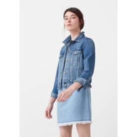 マンゴ MANGO Medium denim jacket (open blue)
