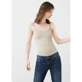 マンゴ MANGO Essential strap top (light beige)
